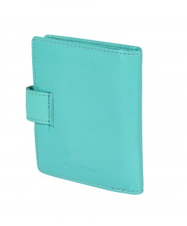 Goat Nappa 20 Leaf RFID Proof Credit Card Case with Tab