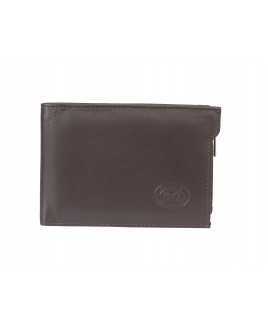 London Leathergoods Soft Grain Cow Hide Nappa RFID Protected Notecase Wallet, with Removable Credit Card Sleeve.