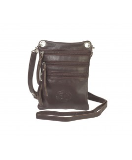 London Leathergoods Soft Grain Cow Hide Nappa Cross-Body Neck Purse/Bag