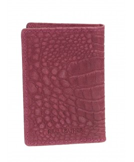 London Leathergoods 10 Leaf RFID Proof Credit Card Case - Vintage Croc Leather