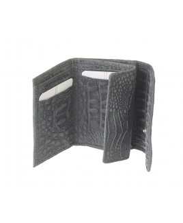 London Leathergoods Coin Purse with Flapped Note & Credit Card Section - Vintage Croc Leather. Non-RFID - 30% Discount!!