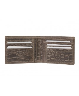 London Leathergoods RFID Protected Notecase with Removable ID Window - Vintage Croc Leather-HUGE REDUCTIONS!