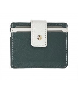 London Leathergoods Contrast Coloured Tabbed Credit Card Case