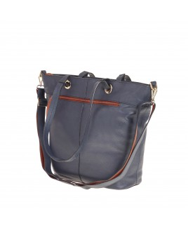 London Leathergoods Contrast Coloured Large Tote Bag