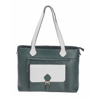 London Leathergoods Contrast Coloured Large Tote/Work Bag