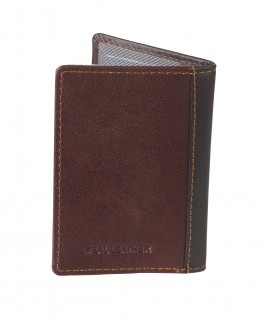 London Leathergoods 10 Leaf RFID Proof  Polished Goatskin Leather Credit Card Case