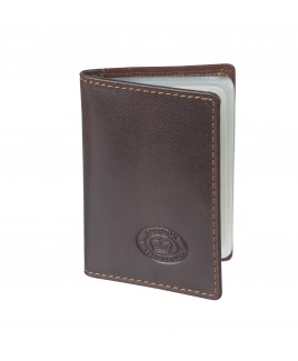 London Leathergoods 10 Leaf RFID Proof  Polished Goatskin Leather Credit Card Case -PRICE DROP!