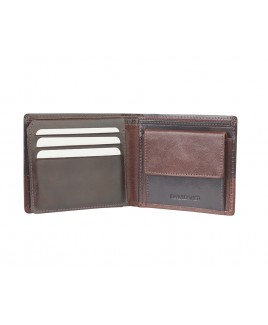 London Leathergoods RFID Protected Notecase Wallet with Flapped ID Window and Credit Card Section-PRICE DROP!