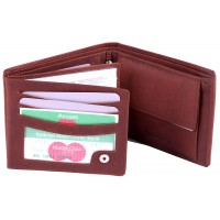 London Leathergoods Two Tone Cow Trumpler Notecase with Credit Card Swing Section- Special Offer
