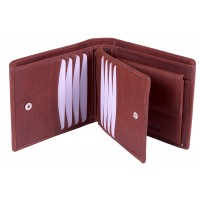 London Leathergoods Large Two Tone Cow Trumpler Notecase with Credit Card Swing Section- Special Offer