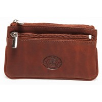 London Leathergoods Two Tone Cow Trumpler Small Two Zip Purse- Special Offer