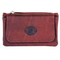 London Leathergoods Two Tone Cow Trumpler Coin  Purse with Flap- Special Offer