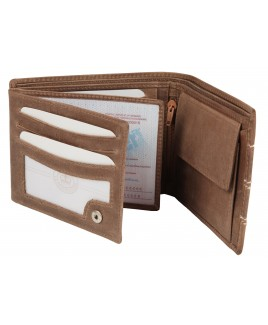 """Matt """"Hunter"""" Leather Large RFID Proof Notecase with Double Swing Section & Coin Pocket"""
