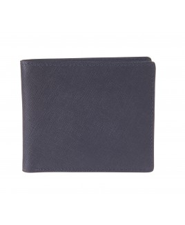 London Leathergoods Safiano Cow Leather RFID Protected Notecase with Twin Note Sections.