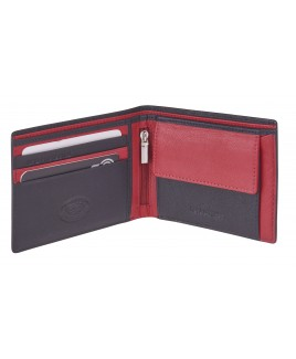 London Leathergoods Safiano Cow Leather RFID Protected Notecase with a Coin Pocket