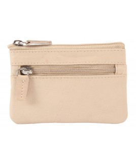 London Leathergoods Cow Leather Top Zip Coin Purse with Key Ring -FURTHER REDUCTIONS!