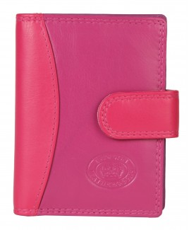 London Leathergoods Cow Nappa Credit Card Case with Tab