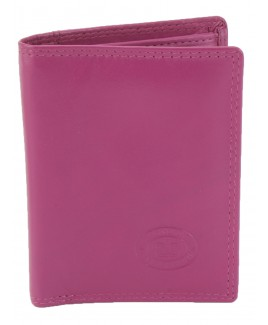 London Leathergoods Cow Nappa Credit Card Case with Note Section