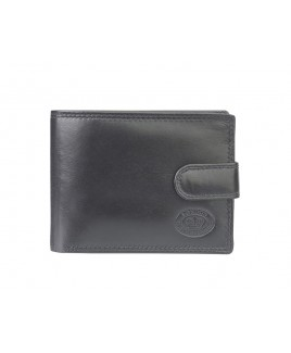 London Leathergoods Cow Nappa Twin Section RFID Proof Notecase with Tab, Credit Card ID Flaps & Coin Section- Price Drop