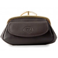 London Leathergoods Korean Nappa Triple Framed Coin Purse with Front Pocket - 20% Off!