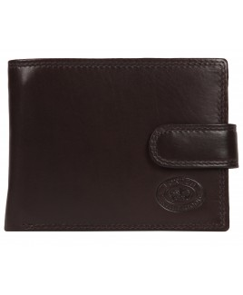 London Leathergoods Cow Nappa Notecase with RFID Proof Credit Card Flap & Zip