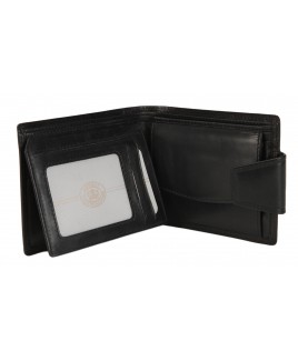London Leathergoods Cow Nappa RFID Proof Notecase with Thick Security Tab & Coin Pocket