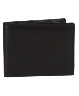 London Leathergoods RFID Proof Notecase with Credit Card Slots & Inner Zip Round Coin Pocket