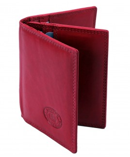 London Leathergoods Cow Nappa RFID Proof Credit Card Case with Swing Section