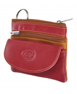 London Leathergoods Soft Cow Nappa Unisex Coin Purse and Key Case