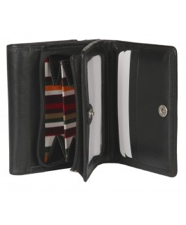 London Leathergoods Cow Nappa Zip Round Purse with Two Wallet Sections- FURTHER REDUCTIONS!!!