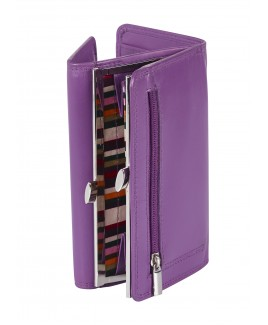 London Leathergoods Cow Nappa RFID Protected Purse Wallet- Price Drop !
