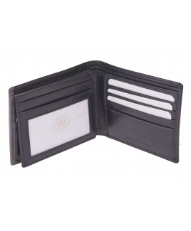 London Leathergoods Soft Cow Nappa RFID Proof Notecase with Credit Card Flap & Outer Panel Detail