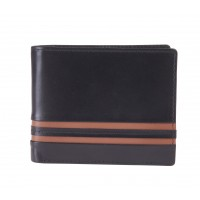 London Leathergoods Soft Cow Nappa RFID Proof Notecase with Outer Panel Detail & Credit Card Flap