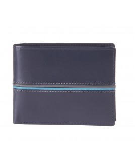 London Leathergoods Soft Cow Nappa RFID Proof Notecase with Swing Section & Outer Panel Detail