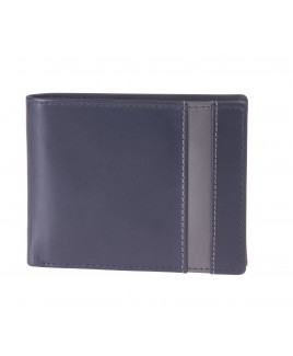 London Leathergoods Soft Cow Nappa RFID Proof Notecase with Outer Panel Detail & Swing Section