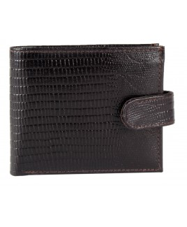 Grained Leather RFID Proof Notecase Credit Card Case, Flap and Change Section