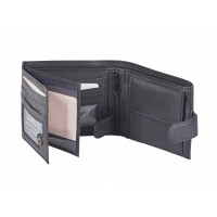 Sheep Nappa RFID Protected Notecase with a Tabbed Double Swing Section
