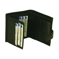 Sheep Nappa RFID Proof Notecase with Credit Card , Swing & Change Section
