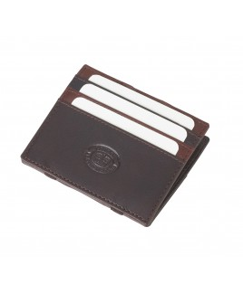 London Leathergoods Polished Goatskin Leather  Puzzle Wallet- PRICE DROP