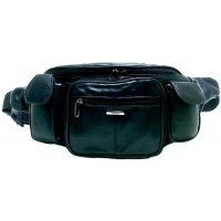 Lorenz Sheep Nappa Large Bum Bag with Zips & Pockets
