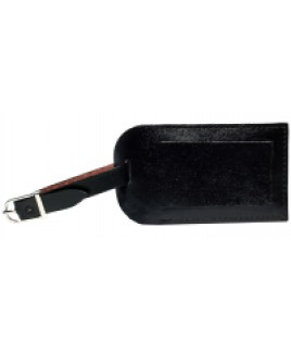 Smooth Leather Luggage Tag with Window Flap