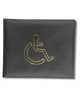 Smooth Leather Disabled Badge Holder