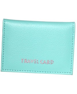 Leather Grain PU Travel Card Holder