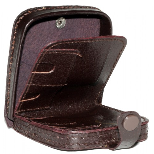 *Leather Tray Purse Wallet with Coin Slots