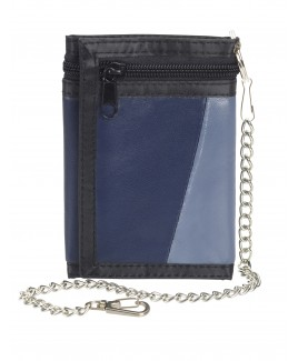 Multi Sheep Nappa Trifold Wallet Multi with a Long Zip and Chain