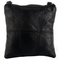 Lorenz Sheep Nappa Small Twin Section Bag with 4 Zips