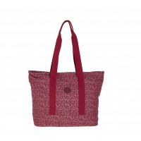 Lorenz Top Zip Animal Patterned Jaquared Top Zip Twin Handle Tote/Shopper