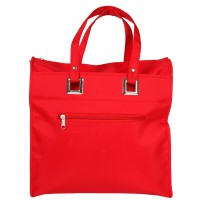 Top Zip Tote Shopper with Silver Fittings