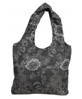 Patterend Nylon Foldaway Shopper with Pouch & Clip - NEW ASSORTMENT