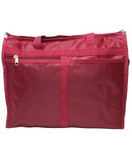 Lorenz Top Zip Polyester Shopper with Front Zip Pocket